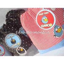 20 Bolsitas De Tela Angry Birds!minnions,pepe,toystory