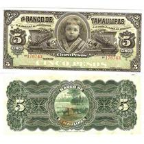 5 Pesos Del Banco De Tamaulipas Crisp