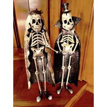 2 Calacas Decoración Halloween Día De Muertos Boda Novios