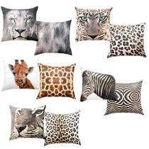 Capa Almofada Animal Girafa Onça Zebra Leão Tigre Kacyumara