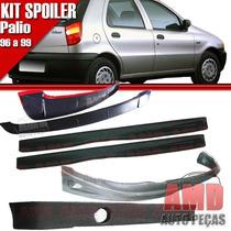 Kit Spoiler Palio 96/99 4 Portas Diant + Lateral C/tela #096