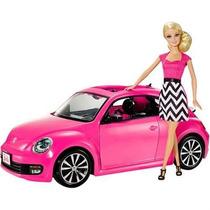 Barbie Boneca Real Veículo Fiat Rosa Mattel Importado