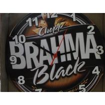 Relogio 29 Cm Cerveja Brahma Chopp Black 1888