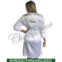 Robe Cetim Feminino Bordado Kit 10 Peças - Noiva - Fábrica