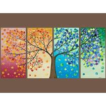 Árbol De La Vida Y Cuadros Abstractos