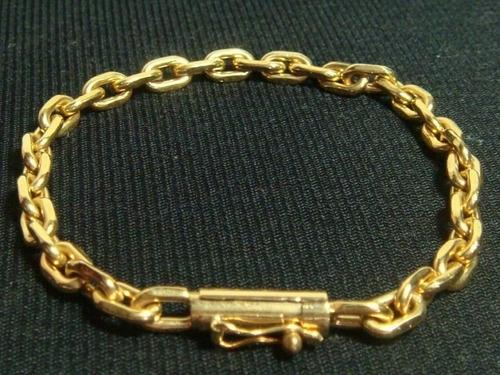 565e7bc0e78 Pulseira Masculina Ouro 18k Cadeado Cartier Maciço 30g - R  10.799 ...