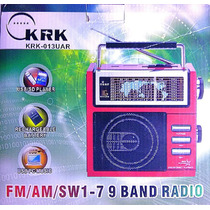 Radio Reproductor Recargable Am Fm Usb Mp3 Sop46