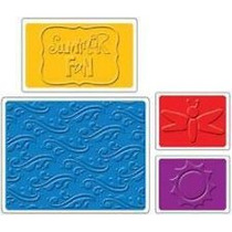 Scrapbook Sizzix Folders Summer Fun Set Compatible Cuttlebug