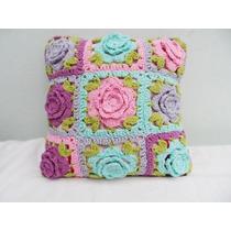 Almohadones Crochet De 40 X 40 Y 40 X 25