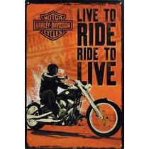 Lamina Poster Live To Ride Harley