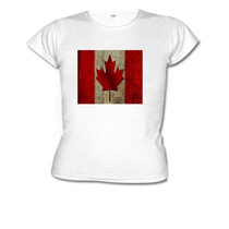 Camiseta Baby Look Bandeira Canadá
