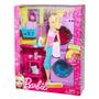 Boneca Barbie Comodos Móveis Reality Lavanderia Lilás Mattel