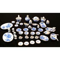 Hermoso Juego De Te Miniatura Colección 44 Piezas Nice Blue
