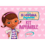 Kit Imprimible Doctora Juguetes Cotillón+candy Bar De Regalo