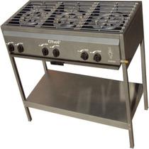 Parrilla Estufa Chef 3 Quemadores De Gas Sin Alacena Acero C