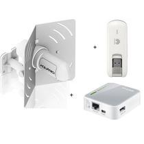 Kit Modem 3|4g Huawei E3276 + Amplificador + Roteador Mr3020