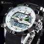 Reloj Shark Sh041 Porbeagle 2 Lcd Alarma Cronómetro Acero