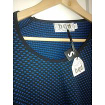 Blusa Nueva Bqd Talla S Tono Azul Negro
