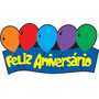 Faixa Feliz Aniversario Bexiga Azul Eva