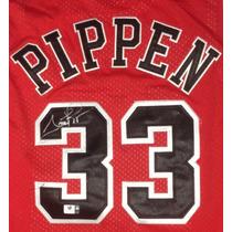 Jersey Autografiado Firmado Scottie Pippen Chicago Bulls Nba