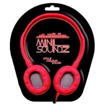 Auriculares De Arriba - Rojo Mini Soundz Neon Head Phones