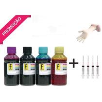 2450ml Kit Tinta Recarga Cartuchos Impressora Epson Bulk