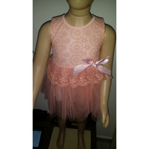 Vestido Renda Com Tule Na Saia - Infantil