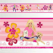Adesivo 123 Faixa Border Infantil Menina Barbie Un Mod 168
