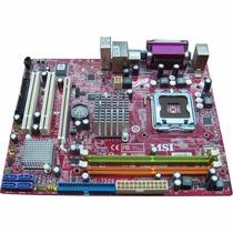 Placa Mãe 775 Msi Ms-7529 Ddr2 Intel G31 Suporta Até Quad