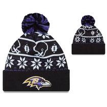 Baltimore Ravens New Era Beanie Gorro Lana Pom Importado Nfl