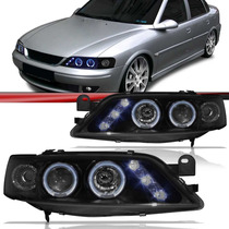 Par Farol Led Tuning Projetor Vectra 98/05 Black Angel Eyes