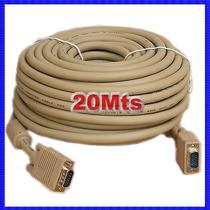 Cable Vga 20mt Blindado Con Filtros Hdtv,led,lcd,cañon Nuevo