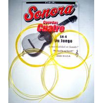 Cuerdas Para Cuatro Sonora Amarillas Made In Usa Sn-4