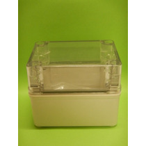 Caja Plástica Tapa Transparente 80x11x85 Mm Marca Tibox