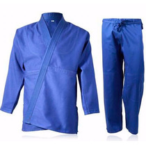 Judo Mediano Shiai Azul Judogi 0 A 3 Uniforme Traje Tramado