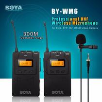 Boya Microfone S/ Fio Lapela By- Wm6 Canon Nikon Sony Panaso