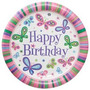 Platos Desechables Grandes Feliz Cumpleaños Mariposas