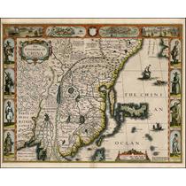 Lienzo Tela Mapa China Y Japón 1626 Cartografía Poster