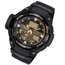 Relogio Sgw 400h1b Ouro Termometro Barômetro Altimetro
