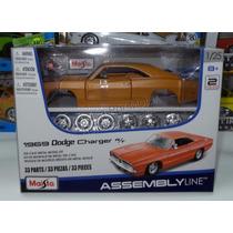 1:24 Dodge Charger R/t 1969 Mate Para Armar En Metal Maisto