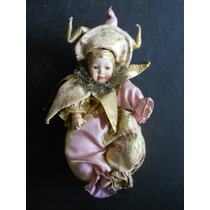 Boneca Pierrot - Rosto De Porcelana