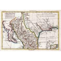 Lienzo Tela Mapa México Texas Lousiana 1780 50 X 75 Cm Plano