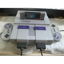 Super Nintendo + 2 Controles+cabo Av+fonte+fita Mario World