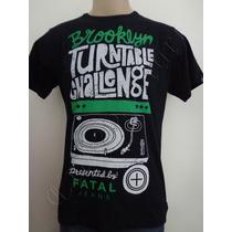 Camiseta Fatal Surf M Pick Up Toca Discos Vinil Crazzy Store