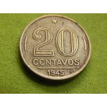 Moeda De 20 Centavos 1945 Getúlio Vargas Brasil (ref 2043)