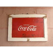 Anuncio De Coca Cola Antiguo En Lámina Letras Resaltadas 50s