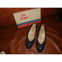 Zapatos De Fiesta San Crispino Casi Nuevos T.39 Negros C Pla