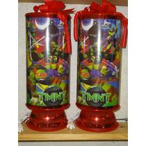 Tortugas Ninja Centros De Mesa,recuerdos,lamparas,1regalo