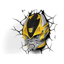 Luminária 3d Light Fx Transformers Bumblebee Autobot