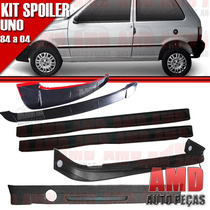 Kit Spoiler Uno 84 Á 04 2 Portas Dianteiro + Lateral Com Tel